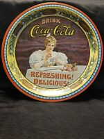 Antique Coca Cola Refreshing Delicious Round Tray, Coke