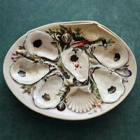 Antique Union Porcelain Works (UPW) Large Clam Shaped Oyster Plate, 6 wells-Rare