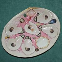 Antique UPW (Union Porcelain Works) Pink Clam Shape Oyster Plate