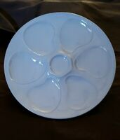 LONGWY FRENCH ART DECO BLUE OYSTER PLATE
