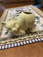 Vintage Nelson McCoy Pottery McCoy ? Stretch ? Mini Miniature Cat  Vase Planter