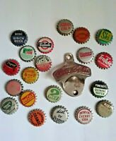 Vintage Coca-Cola Bottle Opener & 20 Vintage Soda Caps