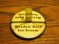 VINTAGE ICE CREAM PARLOR SODA FOUNTAIN MEADOWS GOLD MENU HOLDER