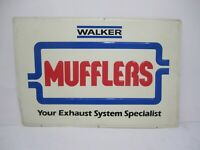 Vtg 1980s Walker Mufflers Exhaust System Specialist Metal Advertising Store Sign