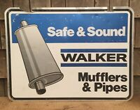 Vintage 2 Sided WALKERS MUFFLERS & PIPES Advertising Service Station STOUT Sign