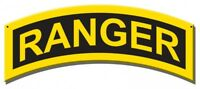 US ARMY Ranger Insignia Metal Sign hand made in the USA 17 x 7 inch metal