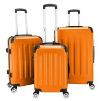 3 Pcs Luggage Set ABS Bag Trolley Spinner Suitcase Hard Shell