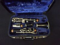 EVETTE MASTER MODEL PARIS FRANCE WOOD CLARINET + SELMER C85 120 MPIECE + CASE