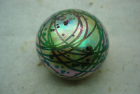 VINTAGE AARON SLATER STUDIO ART GLASS PAPERWEIGHT, SIGNED