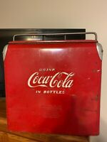 Vintage Drink Coca-Cola Coke Ice Chest Cooler & Tray By Action Mfg. Kansas Clean