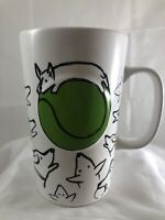 STARBUCKS 2015 Dog Collection Dogs Green Tennis Ball 16 oz Coffee Mug Tumbler