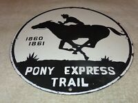 VINTAGE PONY EXPRESS TRAIL US ROUTE MARKER 12