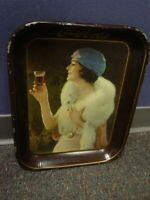 1925 Lady In Fox Stole Coca-Cola Serving Tray