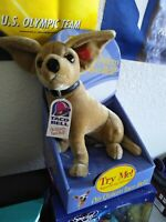 1999 TACO BELL Talking Chihuahua Plush Dog Yo Quiero Taco Bell Dog w/ tags