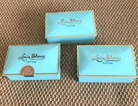 Lot of 3 Louis Sherry  Tins Boxes Lidded Nile Blue Gold -  Only Ones on EBAY