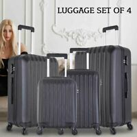 4PCS Travel Luggage Set ABS Trolley Spinner Suitcase wLock 16