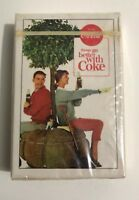 """Vintage 1960's """"Drink Coca Cola Things Go Better With Coke"""" Sealed Playing Cards"""