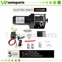 3000LBS 12V Electric Winch Synthetic Rope ATV UTV Winch Off-road Heavy Duty