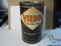 Early Veedol motor oil can metal Imperial quart Canadian Tide Water Oil Toronto
