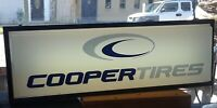 Cooper Tires Double Sided Lighted Advertising Sign Unused 36' x 11 1/2 x 6