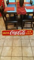 Rare Old Early Porcelain Coca Cola Truck Advertising sign