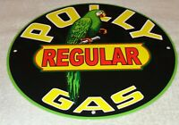 VINTAGE POLLY GAS W/ PARROT +WILTSHIRE OIL 11 3/4