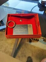 NIB Starbucks Sterling Silver 2014 Limited Edition Keychain Gift Card $50