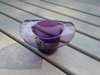 Vintage Pairpoint Glass Hat, Decorated by Peter Kiluk