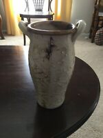 "Berea College Kentucky Pottery Vase 9"" Brown Taupe Artist Signed"