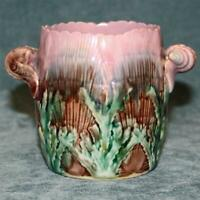 Antique Griffen, Smith, & Hill Etruscan Majolica Spooner, Shell & Seaweed