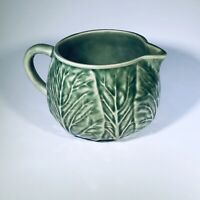 Bordallo Pinheiro Majolica Green Cabbage Mini Creamer Made In Portugal