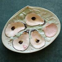 Antique Ice Blue Union Porcelain Works (UPW) Oyster Plate
