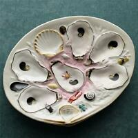 Antique Union Porcelain Works (UPW) Large Clam Shape Oyster Plate