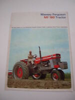 Massey-Ferguson MF 180 MF180 Tractor Color Brochure, 18 pg. original vintage '64