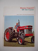 Massey-Ferguson MF 150 MF150 Tractor Color Brochure, 14 pg. original vintage '64