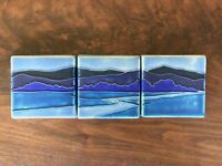 3  Motawi Tiles Nawal Motawi Design Blue Riverscape Mission Stickley Grueby Rare
