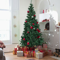 7' Green Artificial PVC Christmas Tree W/ Solid Stand Holiday Indoor Outdoor