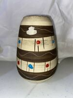 Bay Keramik Pottery Vase Made In West Germany 7 Inches Tall