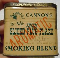 VINTAGE VERY RARE CANNON#x27;S IRISH SLICED TOBACCO VERTICAL POCKET TIN SERIES 110