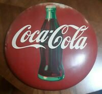 Vintage  Original  1950's 24 Inch Coca Cola Button