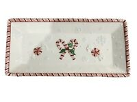 Holiday Lane Candy Cane Christmas Platter