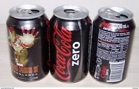 Turkey Rare Coca Cola Zero Iron Man Top Opened Empty 330 mL Can 25