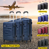 3 Pieces Luggage Set Carry On Trolley Suitcases Cover Travel with Spinner Wheels