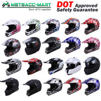 DOT Adult Motocross Helmet Motorcross ATV UTV MX BMX Dirt Bike Racing Motorcycle