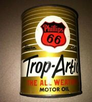 VINTAGE PHILLIPS 66 TROP ARTIC MOTOR OIL CAN BANK 2 3 4quot;inch tall x 2quot; Dia.