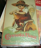 NORTHWESTERN CONSOLIDATED MILLING CO. CERESOTA FLOUR METAL SIGN