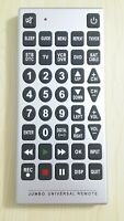 JUMBO Universal Television Remote Control Large Buttons EXCELLENT CONDITION $14.99
