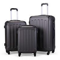 """3pcs Luggage Set Lightweight Durable Travel Suitcase Spinner Wheels 20"""" 24"""" 28"""""""