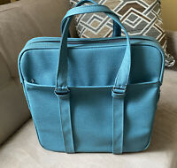 VTG SAMSONITE Blue Silhouette Travel Tote Bag Carry On Luggage Overnight 16x16x7