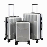 3 PCs Luggage Set with TSA locks Portable Spinner Suitcase Durable 20quot; 24quot; 28quot;